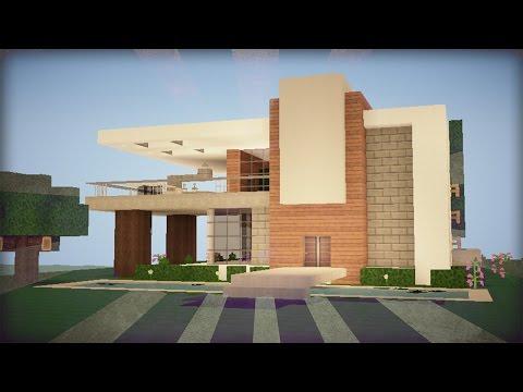 Tutorial de como hacer una casa moderna en minecraft 6 by for Casa moderna tutorial minecraft
