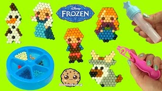 Make Disney Frozen Queen Elsa, Princess Anna, Olaf, Kristoff with Water AquaBeads Craft Playset
