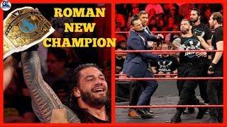 Roman New Champion | WWE Raw 20/11/2017 Highlights Segments