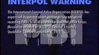 UVS video logo (1992-1998) FALSO con advertencia en ingles