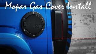 How To Install : Jeep Wrangler JK Mopar Gas Cover || طريقة تركيب غطاء تانكي موبار لـ جيب رانجلر