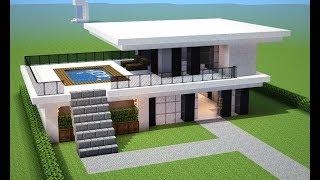 Minecraft Tutorial: como fazer uma *CASA MODERNA* para sua cidade