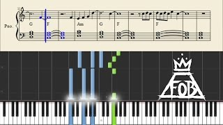 Fall Out Boy - Alone Together - Piano Tutorial + Chords