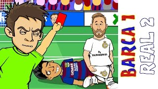 Barcelona vs Real Madrid 1-2 : El Clasico 2016 (Ronaldo goal Sergio Ramos red card Goals Highlights)