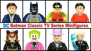 Batman Classic TV Series Minifigures Unofficial Lego KnockOff Set w/ Robin Joker & Penguin
