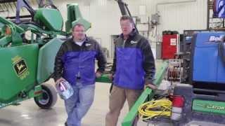 Repairing a Combine Flex Head with the Bobcat 250 EFI Welder/Generator