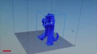 Печать большой фигуры PLA пластиком