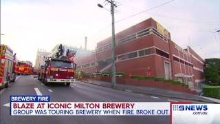 Fire breaks out at Brisbane's XXXX brewery causing peak hour chaos