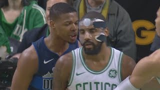 Kyrie Irving, Dennis Smith Jr Double Technical Fouls! Mavs vs Celtics 2017-18 Season