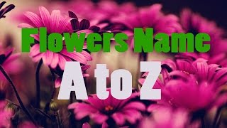 flower names for kids A to Z | BDKids