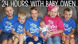 24 Hours With 5 Kids and a Newborn Baby