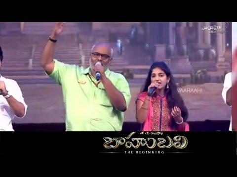 Keeravani Song Live Performance Baahubali Title Song Audio Launch Live