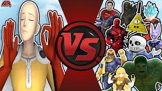 One Punch Man VS The World (Saitama vs Goku, Beerus, Superman, Hulk, Bill Cipher Sans) OPM Animation