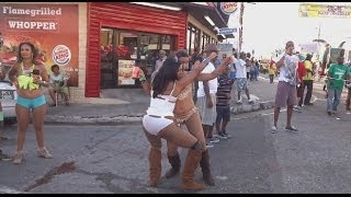 Carnival Monday 2014 in Trinidad - Fantasy filmed by jonfromqueens