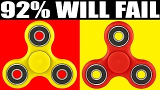 92% CANT SPOT THE DIFFERENCE (IMPOSSIBLE FIDGET SPINNER CHALLENGE)
