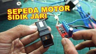Alat  Menyalakan Motor Dengan Sidik Jari VLOG125