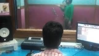 Singer Manish Pandey live recording in Symphony Studio Patna