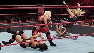 WWE 2K18 - Dana Brooke vs Natalya vs Liv Morgan vs Sarah Logan [MITB Qualifying Match] | RAW