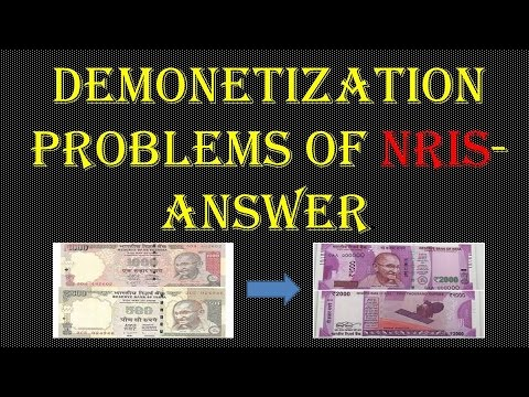 DEMONETIZATION PROBLEMS OF NRIs-ANSWER.