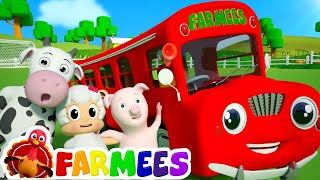 Wheels On The Bus Go Round And Round | 3D Nursery Rhyme Songs | Video For Children by Farmees S01E16