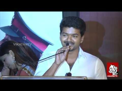 Kajal Agarwal is Hot - Vijay Speech with Thuppakki Trailer