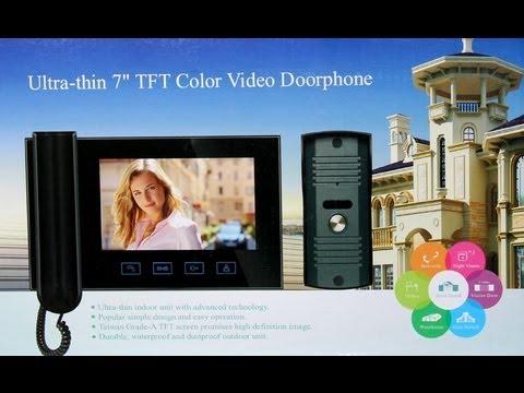как подключить китайский домофон, видео-инструкция по подключению