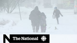 Winter brings its worst to central, eastern Canada