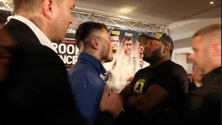 'WOW HE'S STRONG!' - DAVE ALLEN v LENROY THOMAS INTENSE HEAD TO HEAD @ FINAL PRESS CONFERENCE