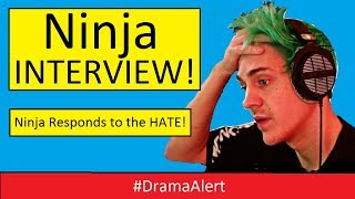 Ninja Reacts to Hate over Banned Fortnite Player! ( INTERVIEW ) #DramaAlert
