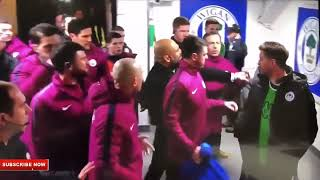 FIGHT!!! PEP GUARDIOLA vs Wigan Manager In The Tunnel!