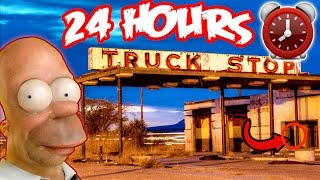 (SAFE FOUND!) 24 HOUR OVERNIGHT at HAUNTED TRUCK STOP | TRUCK DRIVER GHOSTS OVERNIGHT AT TRUCK STOP!
