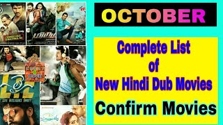 Upcoming New Hindi Dubbed movie | October list