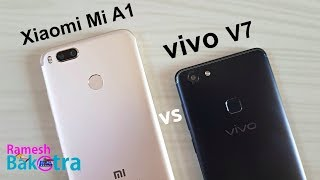 Vivo V7 vs Mi A1 Speed Test and Camera Compare