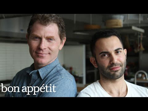 Bobby Flay vs. Andy Battle of the Onion Rings Bon Appétit