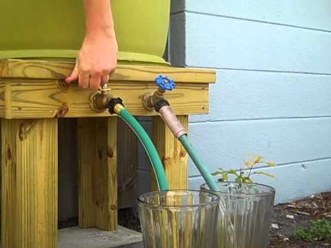 Rain Barrel Water Pressure/Volume Demonstration.
