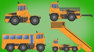 Transformer | Airport Bus | Passenger Mover | Tow Truck | Video For Kids | Car superheroes