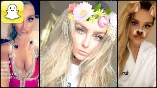 Perrie Edwards - Snapchat Video Compilation 2016