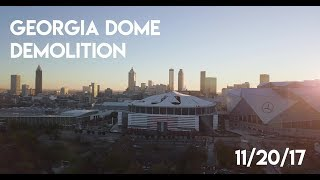 Georgia Dome Demolition - Drone Footage