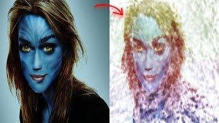 Creative Photo Effects Paint Splash on face using Brush   Amazing Face Photo Manipulation- Photoshop