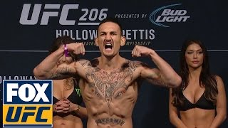 UFC 206 Full Weigh-In: Holloway vs. Pettis, Cerrone vs. Brown and more