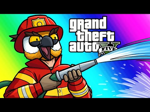 GTA5 Online Funny Moments Doomsday Heists Saving Hard Drives and Fighting Fires