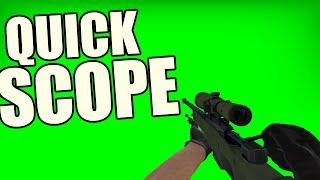 AWP Sniper Quick Scope Animation HD 1080p Green Screen - CS GO
