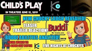 Child's Play Remake News -Teaser Trailer Reaction - Chucky's New Laugh - Buddi Abilities