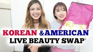 AMERICAN - KOREAN BEAUTY SWAP Ft. TheBeautyBreakdown(Morgan)