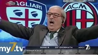 "DirettaStadio 7Gold Cagliari Milan 1-2 Tiziano Crudeli: ""KESSIE GO-GO-GOOOL!"""