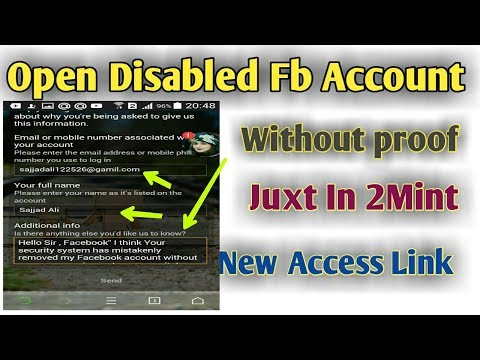 How To Open Disabled Facebook Account Juxt In 2Mint New Link 2018