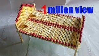 How to make a matchstick Bed..?matchstick  art