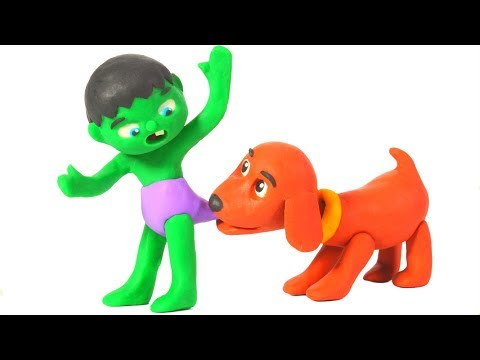 SUPERHERO BABIES MEET THE NEW DOGGY FAMILY ❤ SUPERHERO BABIES PLAY DOH CARTOONS FOR KIDS