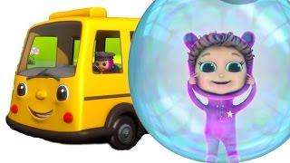 Nursery Rhymes with Lyrics   Wheels on the Bus   Educational
