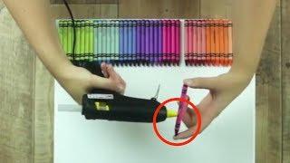 6個蠟筆的技巧。第四個肯定會再次的流行
